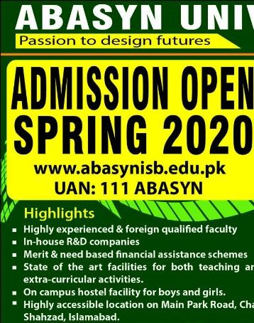 Abasyn University Islamabad Admissions Expert Mdcat